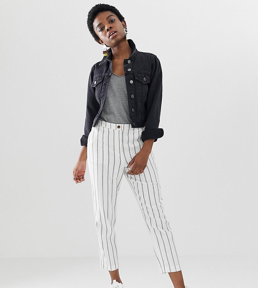 889473e749b0 ASOS. Women's Asos Design Petite Striped Linen Slim Cigarette Trousers