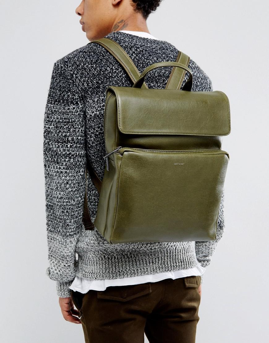 lyst matt nat paxx backpack in green for men. Black Bedroom Furniture Sets. Home Design Ideas