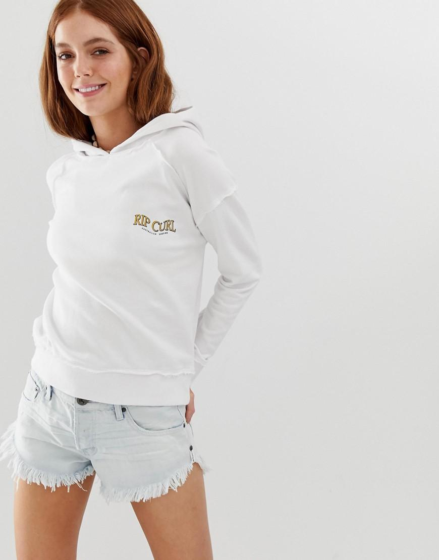 147c6b7673 Lyst - Rip Curl Rip Curl Locals Only Logo Beach Hoodie In White in White