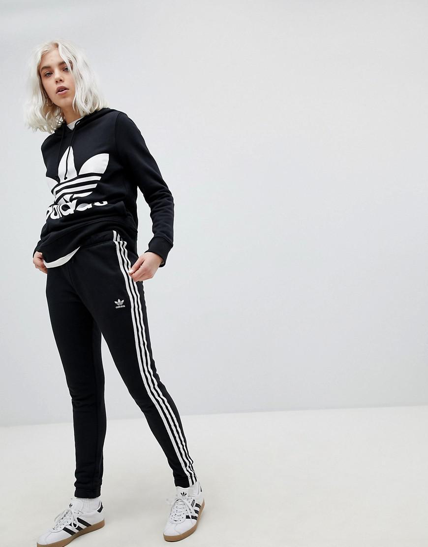 7f40226690 Adidas Originals Originals Adicolor Three Stripe Regular Fit Cuffed Track  Pants In Black