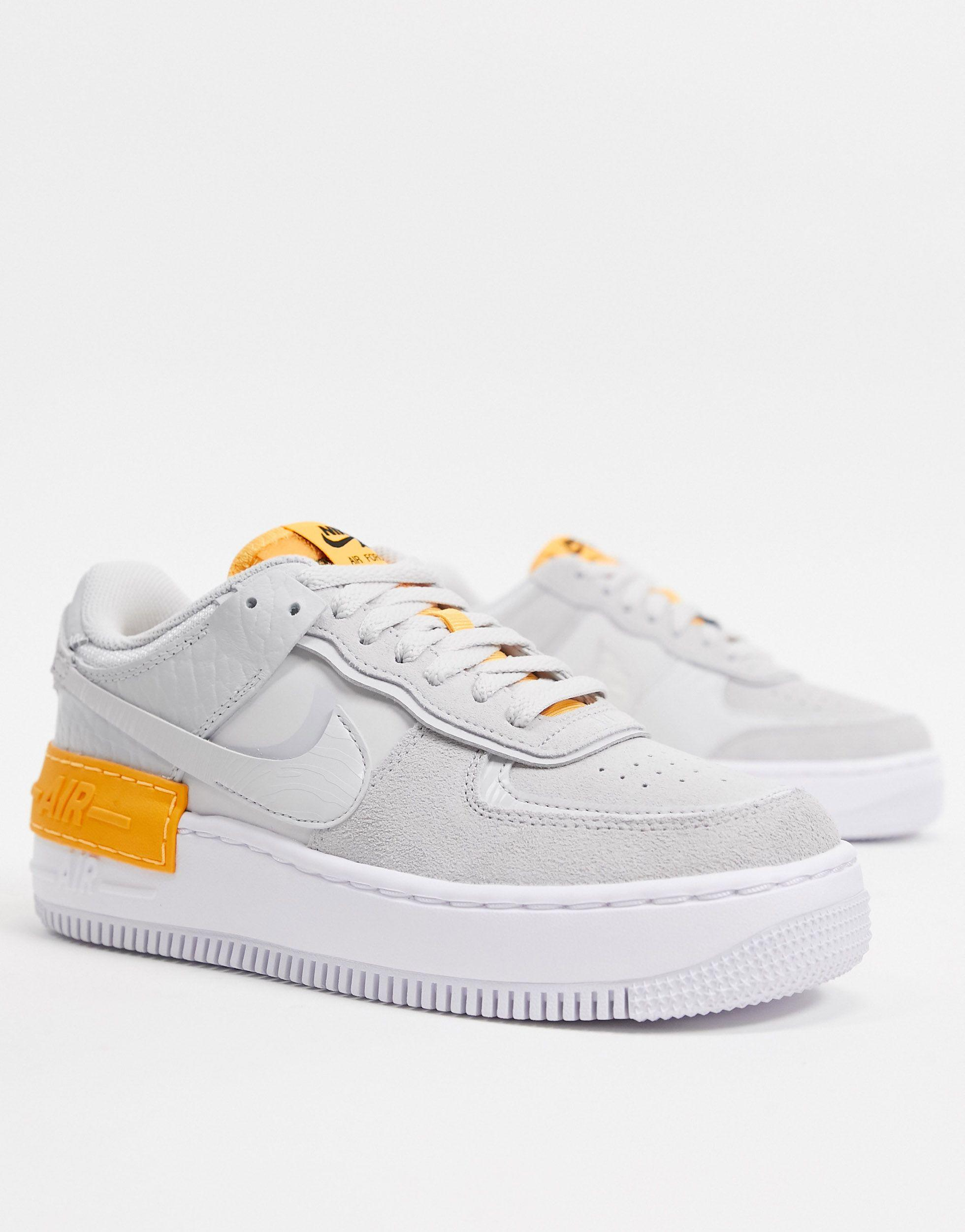 Nike Air Force 1 Shadow Shoe In Grey Grey Save 56 Lyst Featuring the iconic air force 1 silhouette, the 'shadow' has been given the playful deconstructed uppers treatment. air force 1 shadow shoe