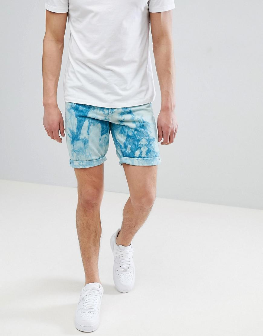 DESIGN Slim Chino Shorts In Teal - New blue Asos
