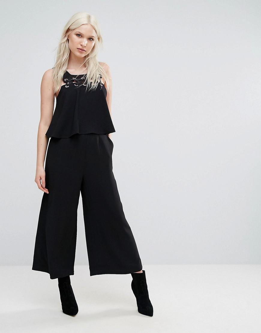 a01f2f654f5 N12H No Borders Cropped Jumpsuit in Black - Lyst