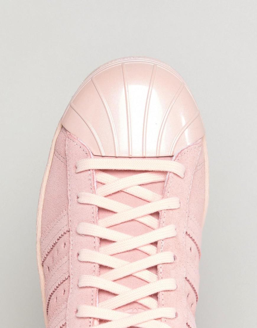 hot sale online 7e624 64aa8 Adidas Originals Originals Pink Superstar 80s Trainers With Metal Toe Cap
