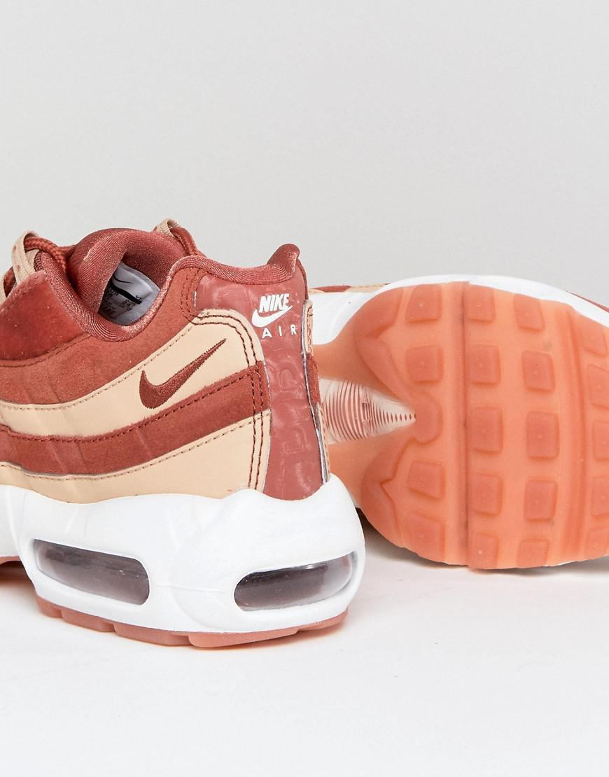 premium selection ad4df 2b014 Nike Air Max 95 Velvet Sneakers In Dusty Peach in Orange - Lyst