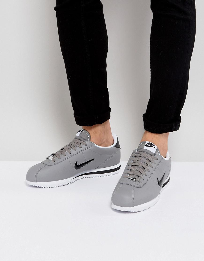 size 40 b1562 18ac6 Nike Cortez Basic Jewel Trainers In Grey 833238-001 in Gray for Men ...