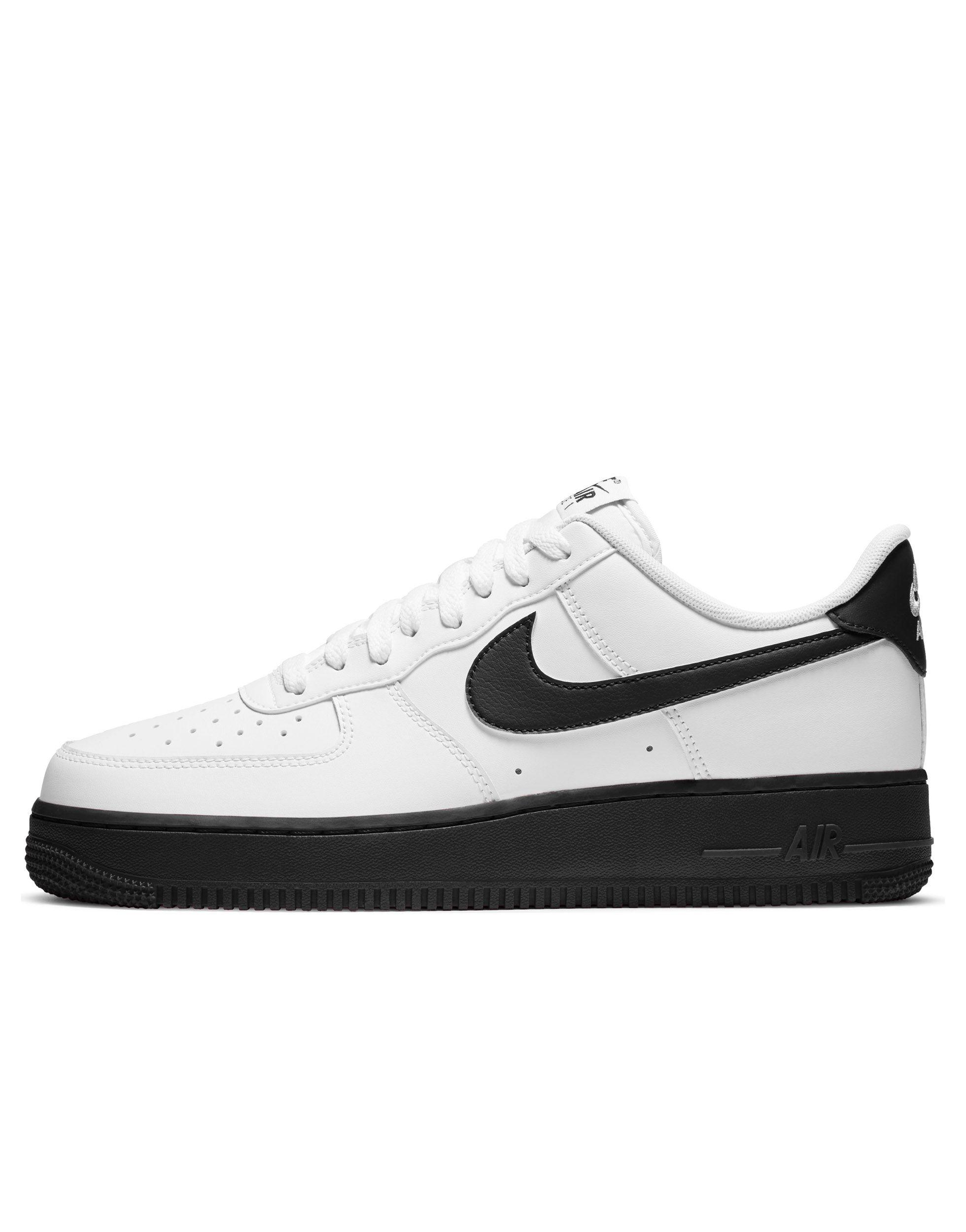 Nike Rubber Air Force 1 '07 Brick Trainers in White/Black (White ...
