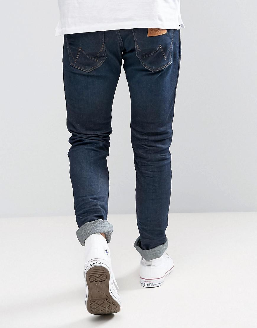 Wrangler Denim Slim Fit Jeans In Rinse Resin in Blue for Men