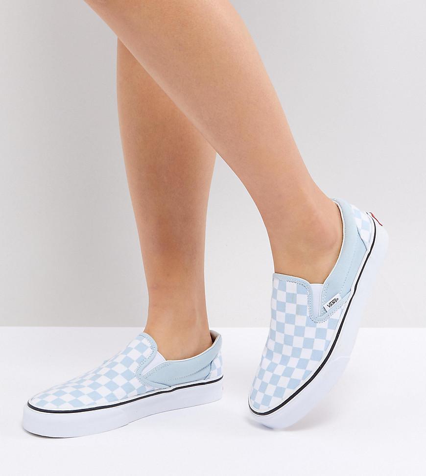 Baskets enfiler motif damier Toile Vans en coloris Bleu - Lyst