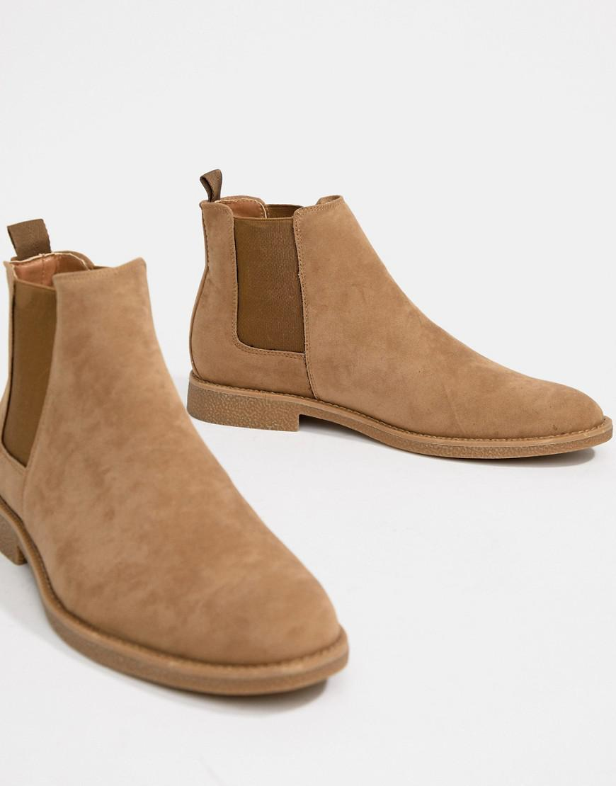 New Look Chelsea Boots In Light Stone