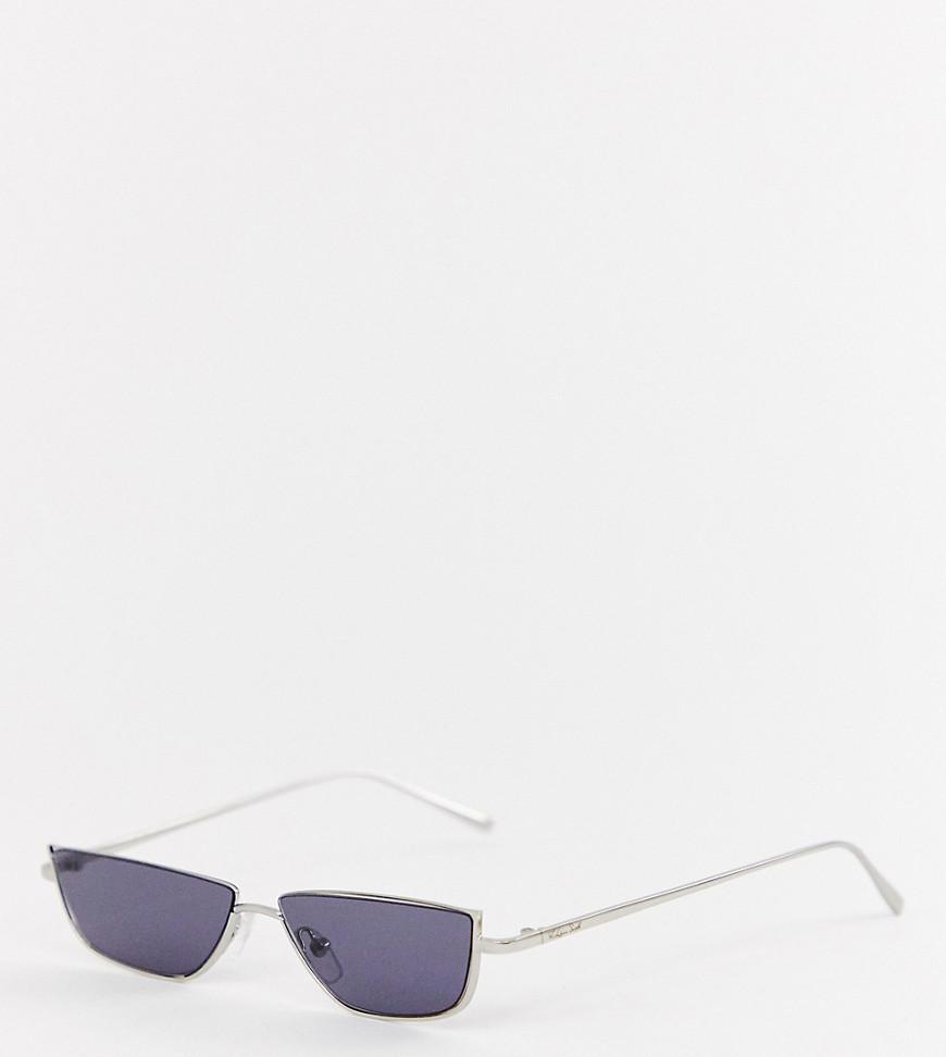 87aa48d3d2 Lyst - ASOS X Laquan Smith Narrow Lens Sunglasses in Metallic for Men