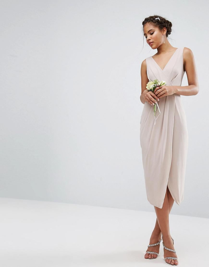 f914672054b Tfnc Wrap Midi Bridesmaid Dress - Data Dynamic AG