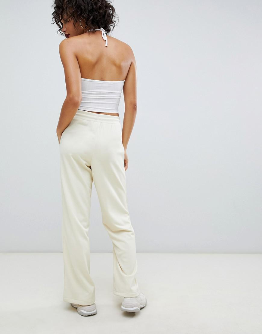 a2ed0ef8f4dd Lyst - Fila Tracksuit Bottoms With Contrast Piping In Rib Knit Co-ord in  White