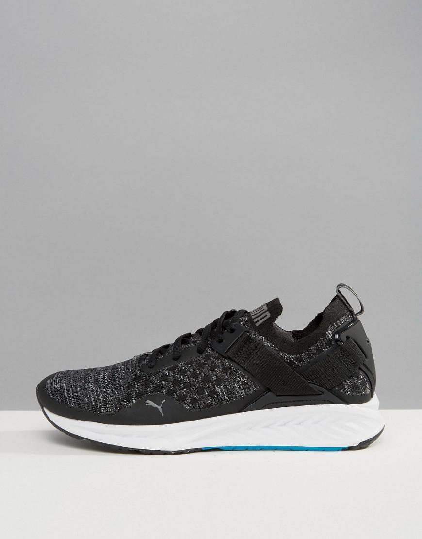 Running Ignite Evoknit Lo Sneakers In Black 18990401
