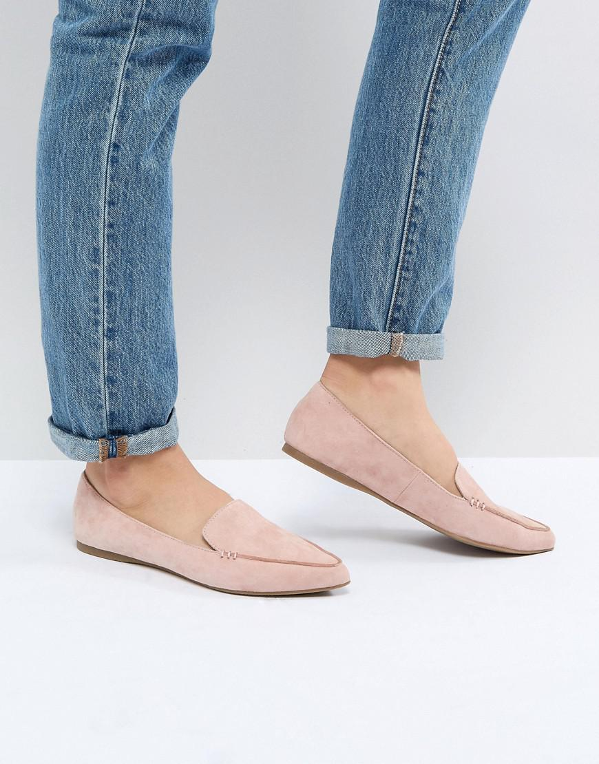 bf2c0377afe Steve Madden Pink Feather Rose Suede Flat Shoes