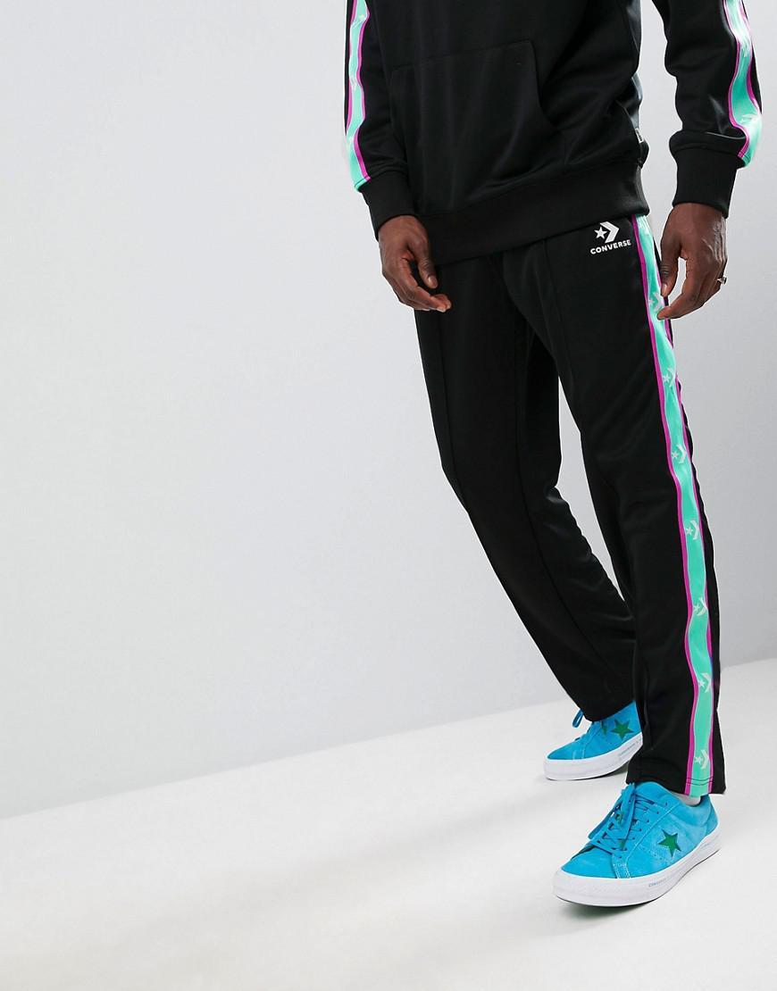 Bande Pantalon Pour Latrales Converse Avec De Lyst Rayures Jogging fYn1SSW7