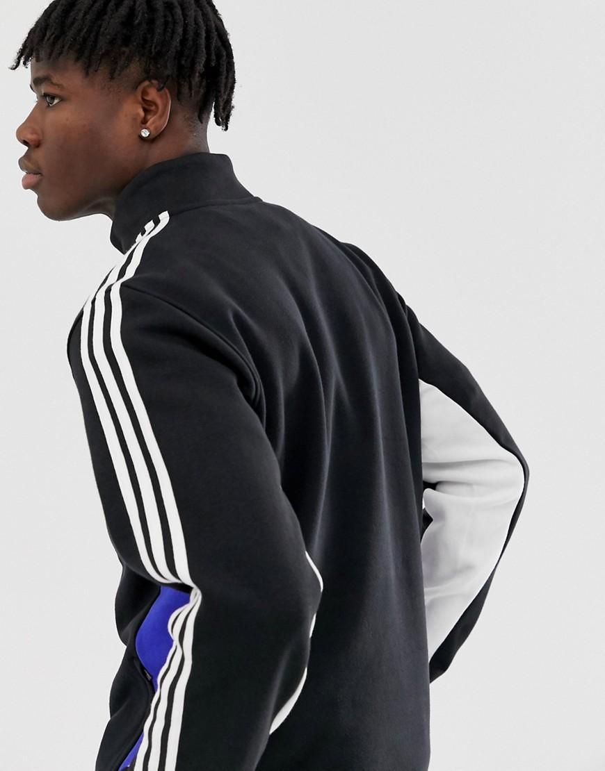 adidas Originals Katoen Jack Met 3 Strepen In Zwart in het Zwart voor heren