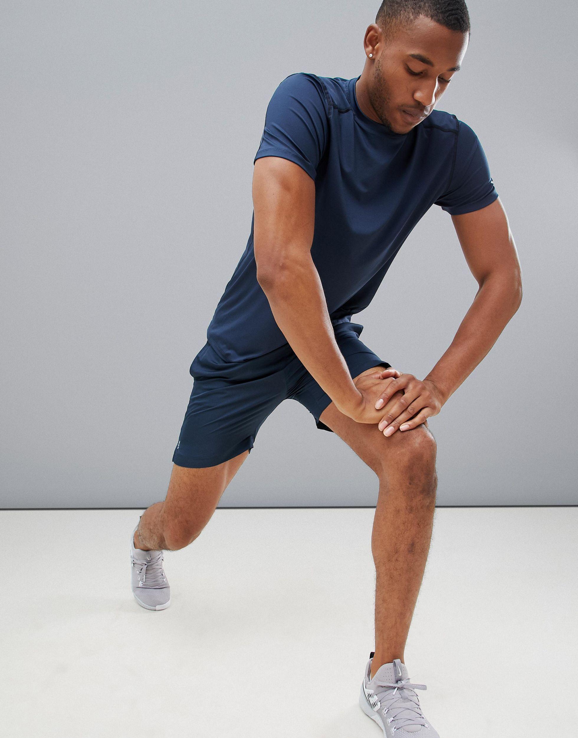 New Look Sport - Hardloopshort in het Blauw voor heren