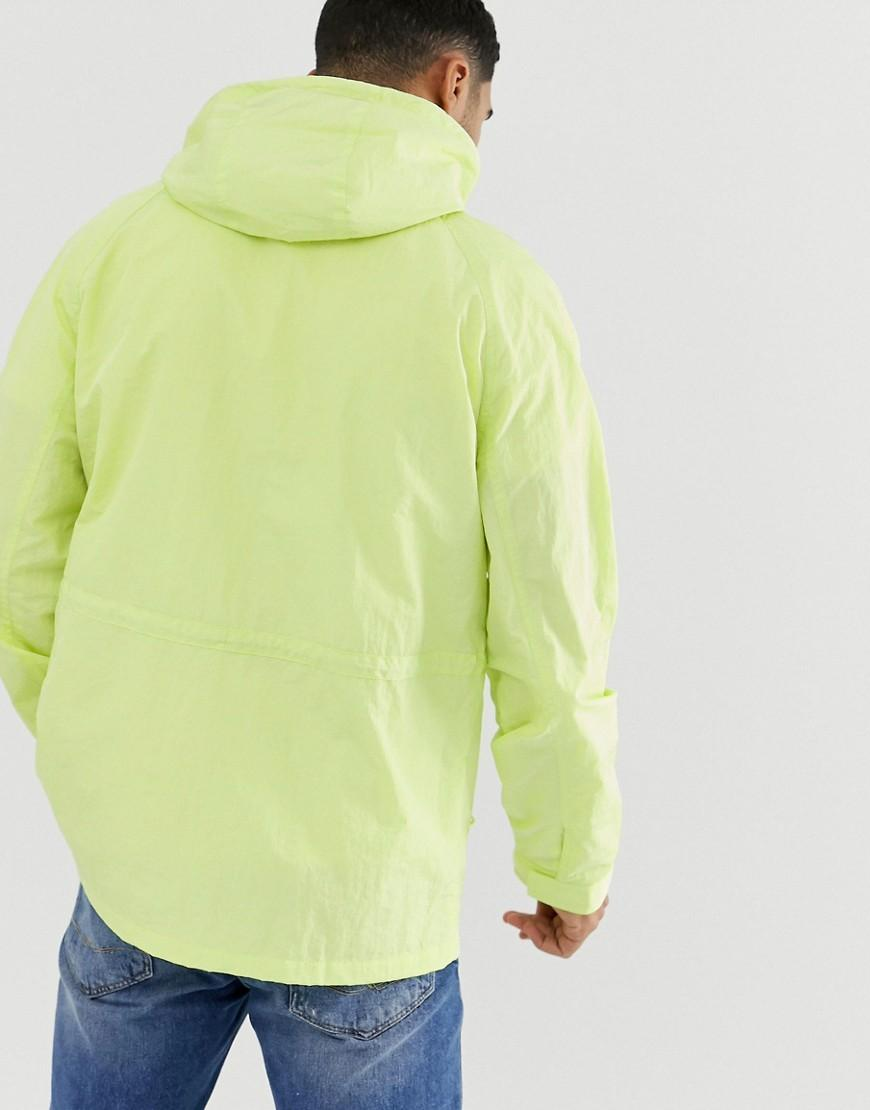 c8deb12d63e13f Lyst - ASOS Parka Jacket In Neon Green in Green for Men