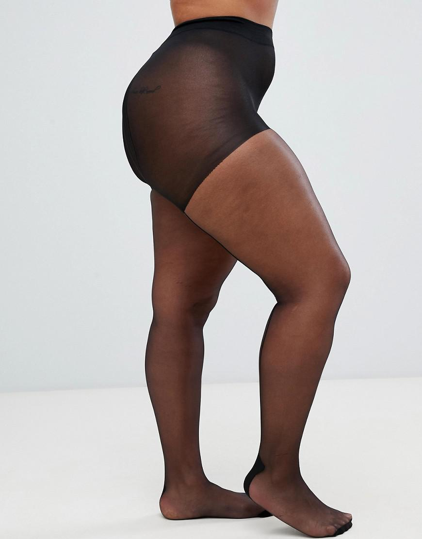 5a3c5960933 Pretty Polly Curve Back Seam Tights In Black in Black - Lyst