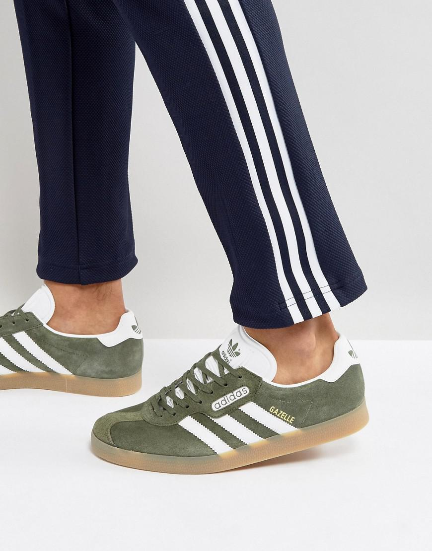 adidas Originals Suede Gazelle Super Sneakers In Green By9778 for ...