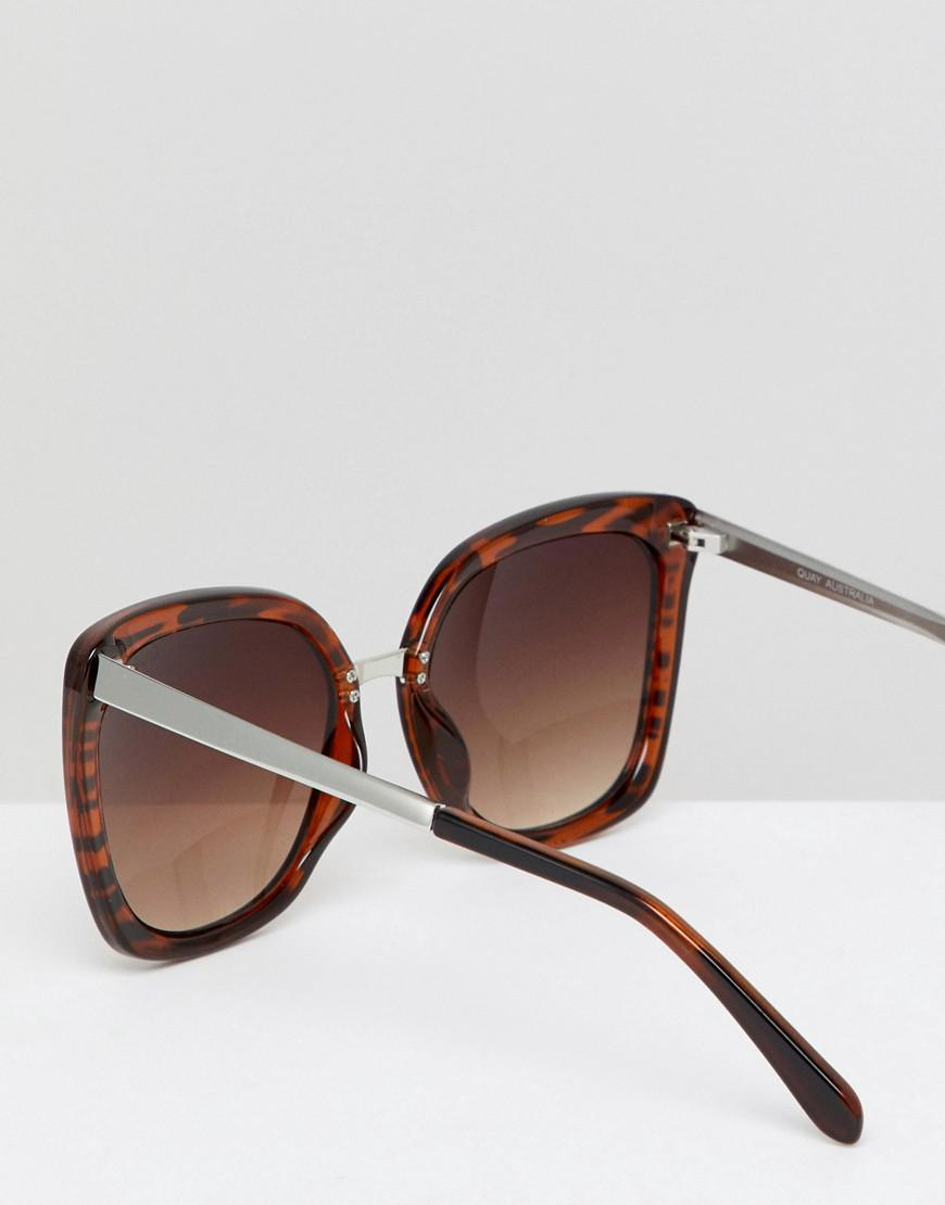 cd95ed6693a88 Quay Capricorn Square Frame Sunglasses in Brown - Lyst