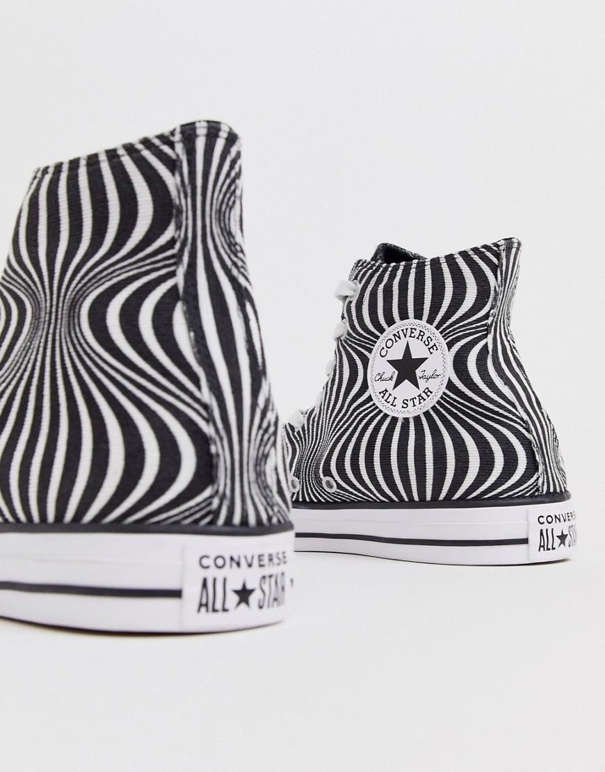 Converse Canvas Chuck Taylor - Sneakers Met Psychedelische Print in het Wit voor heren