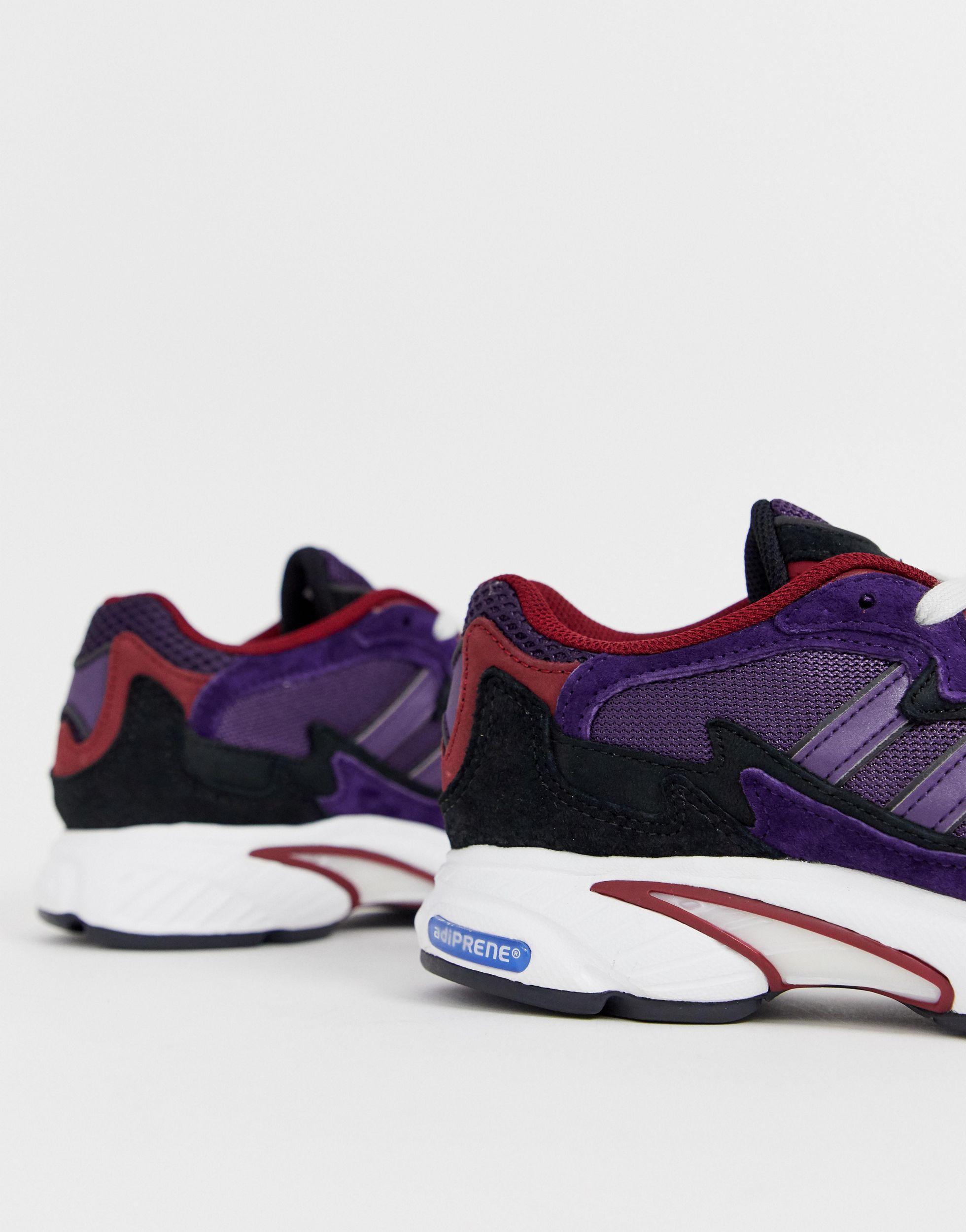 Modelo en violeta y negro Temper Run adidas Originals de color Azul