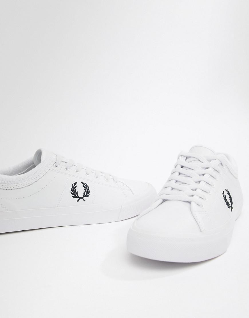 Fred Perry Kingston Leather Sneakers in White for Men