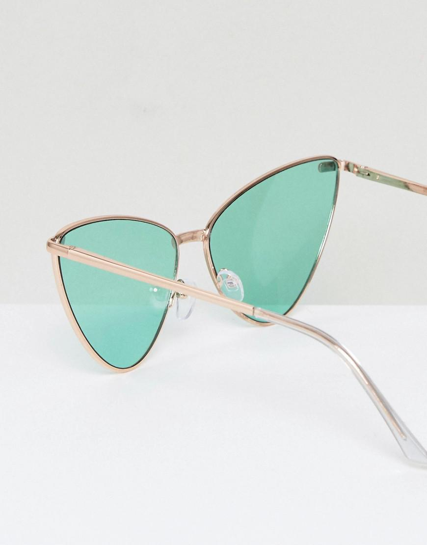 A.J. Morgan Metal Cat-eye Sunglasses With Green Tinted Lens