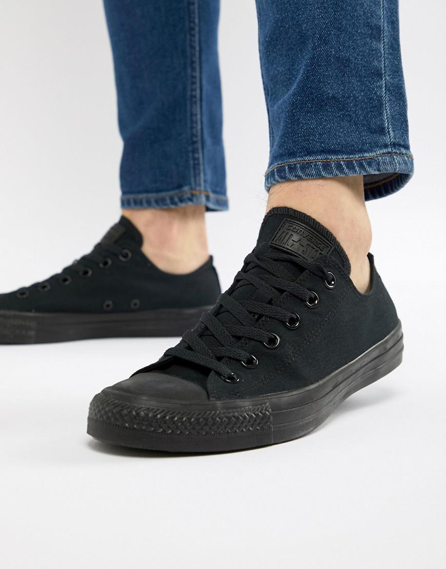 löparskor bästa service bra passform Converse Canvas Chuck Taylor All Star Ox Sneakers in Black for Men ...