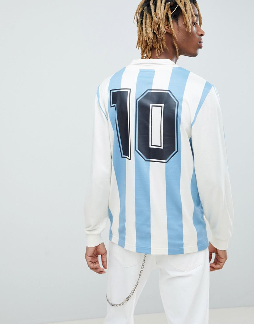 092551065a3 adidas Originals Retro Argentina Soccer Jersey In Blue Ce2341 in ...