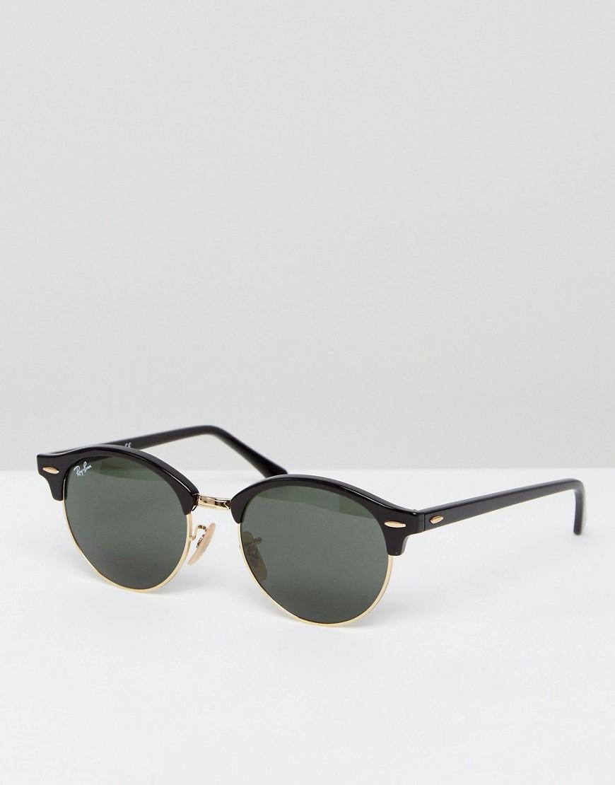 5b3b5c88b4 Ray-Ban - Black Gafas de sol redondas estilo Clubmaster 0RB4246 de for Men  -. Ver en pantalla completa