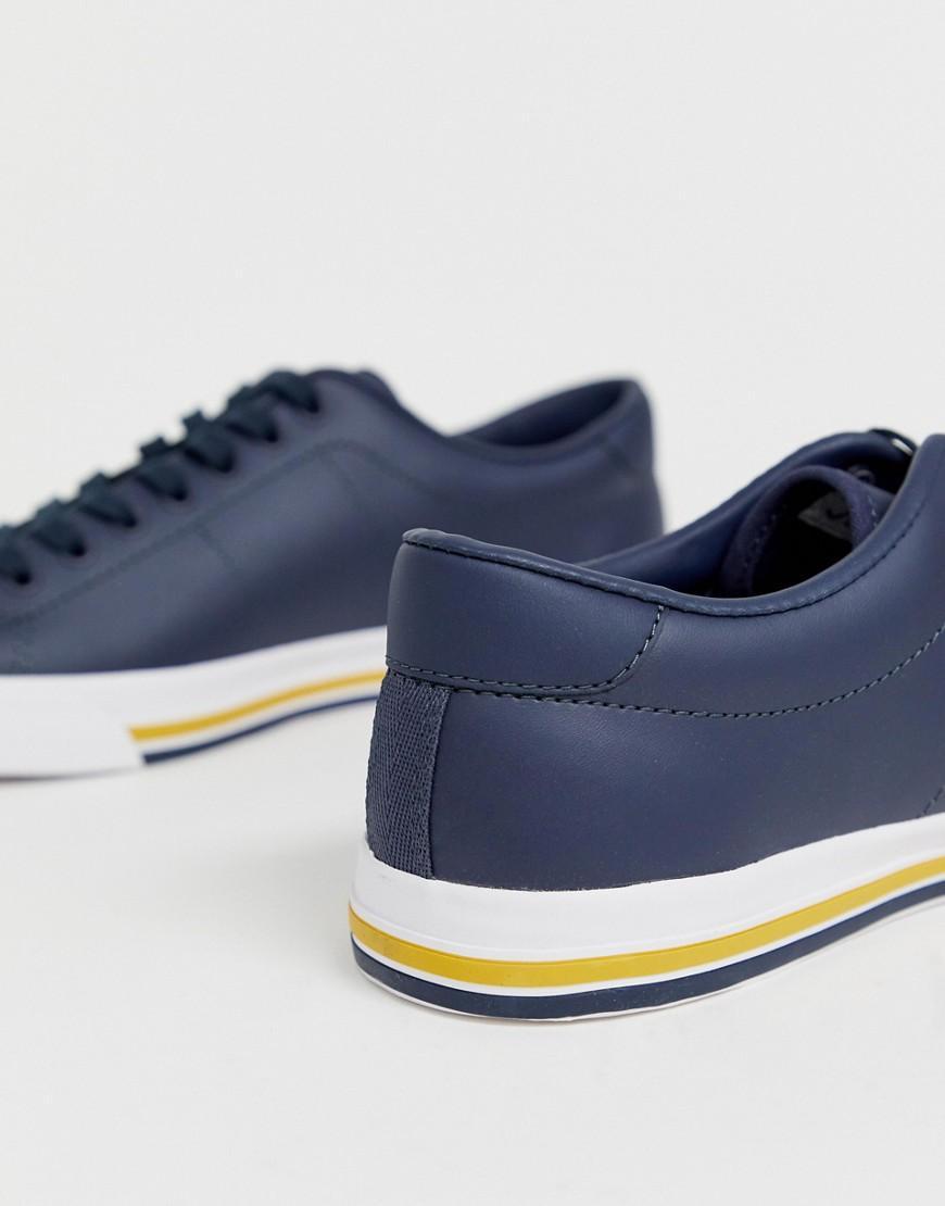Fred Perry Leer Underpsin - Leren Sneakers in het Blauw voor heren