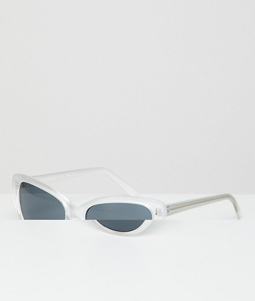 18dc2c67c1 A.J. Morgan Cat Eye Sunglasses In Pearl White in White for Men - Lyst