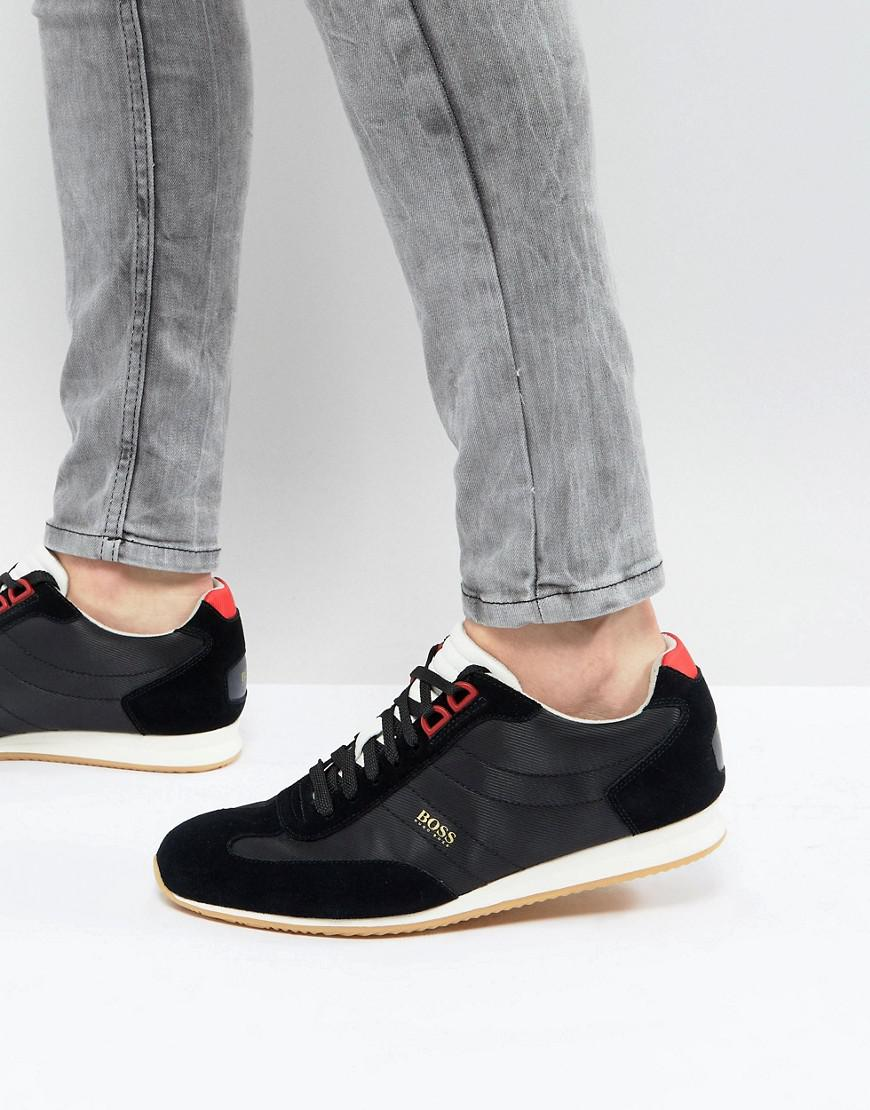 a0d879c9a75 BOSS Orland Trainers In Black in Black for Men - Lyst
