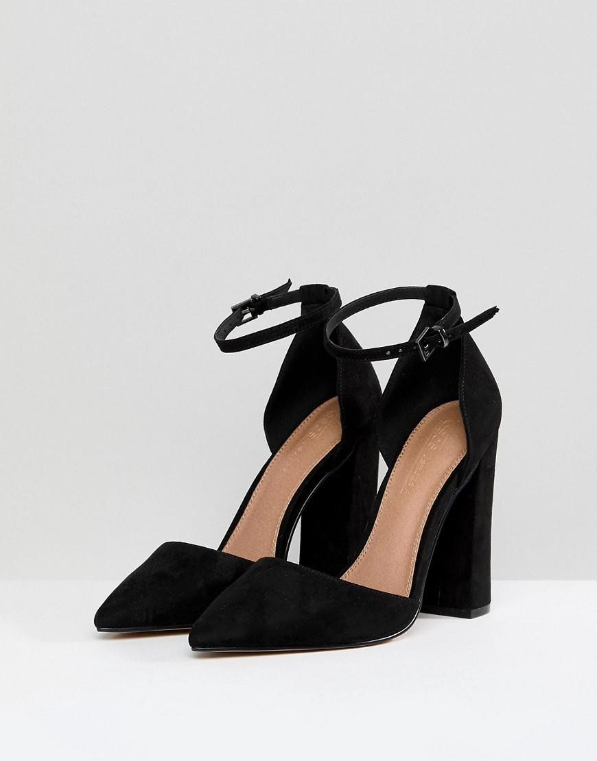 00c5fd2c414a Lyst - ASOS Pebble Pointed High Heels in Black