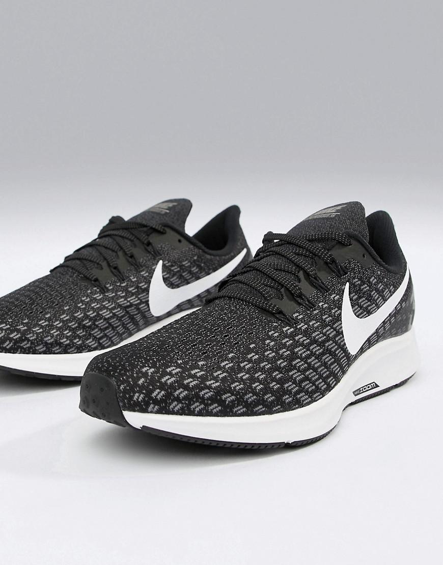 cc1600a8a02cf Nike Wide Fit Air Zoom 35 Pegasus Trainers In Black 942853-001 in Black for  Men - Lyst