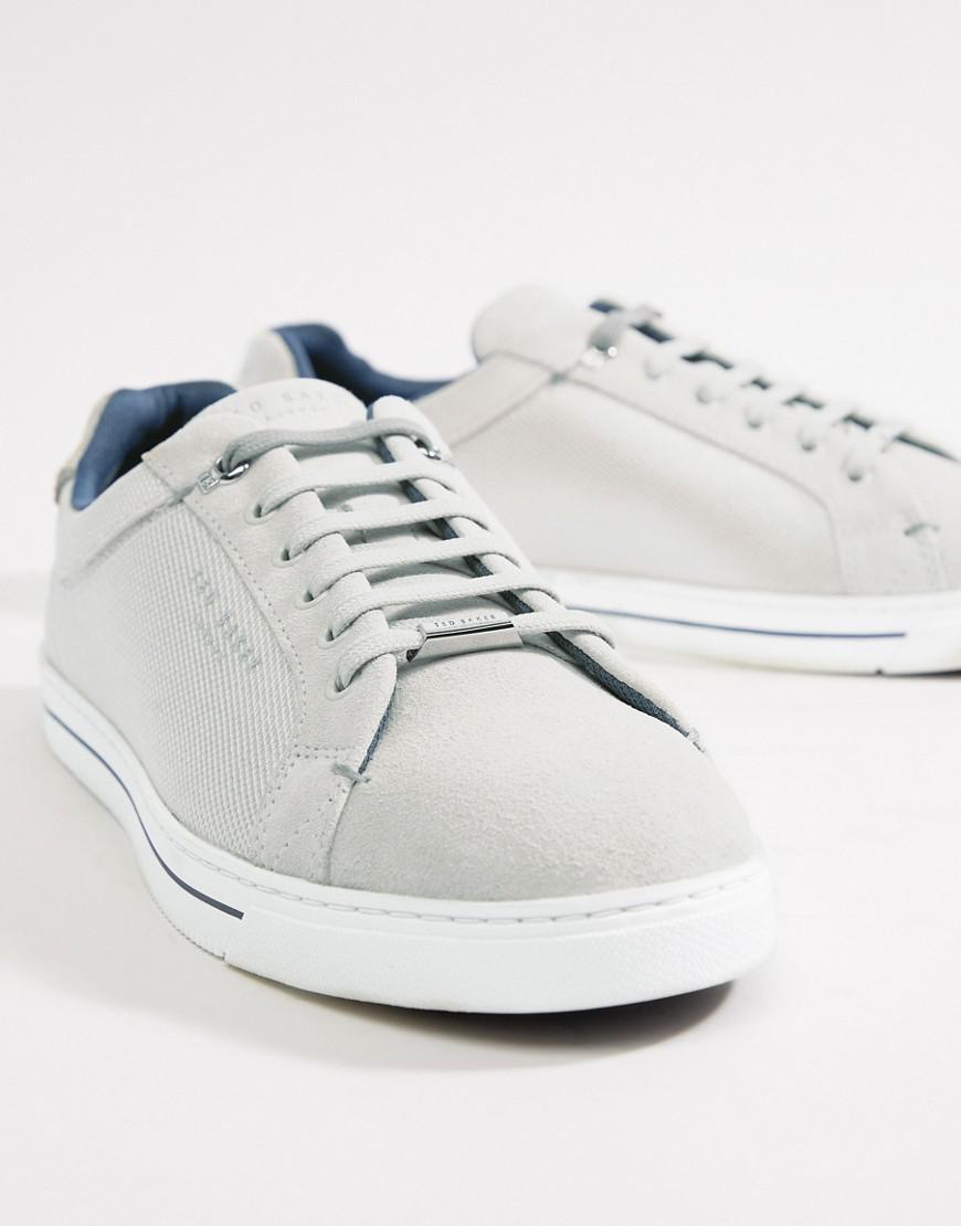 d20b08fc3 Lyst - Ted Baker Eeril Sneakers In White Texture in White for Men