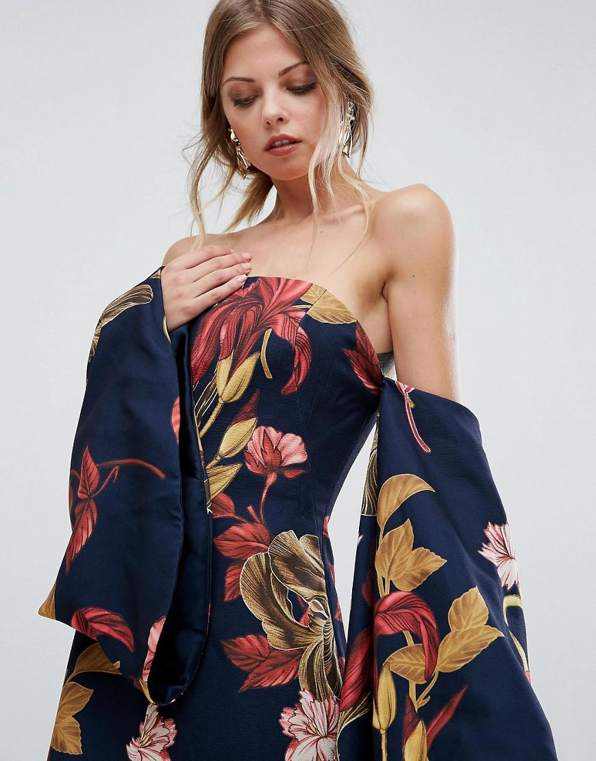 C Meo Collective Synthetic Fusion Printed Maxi Dress In