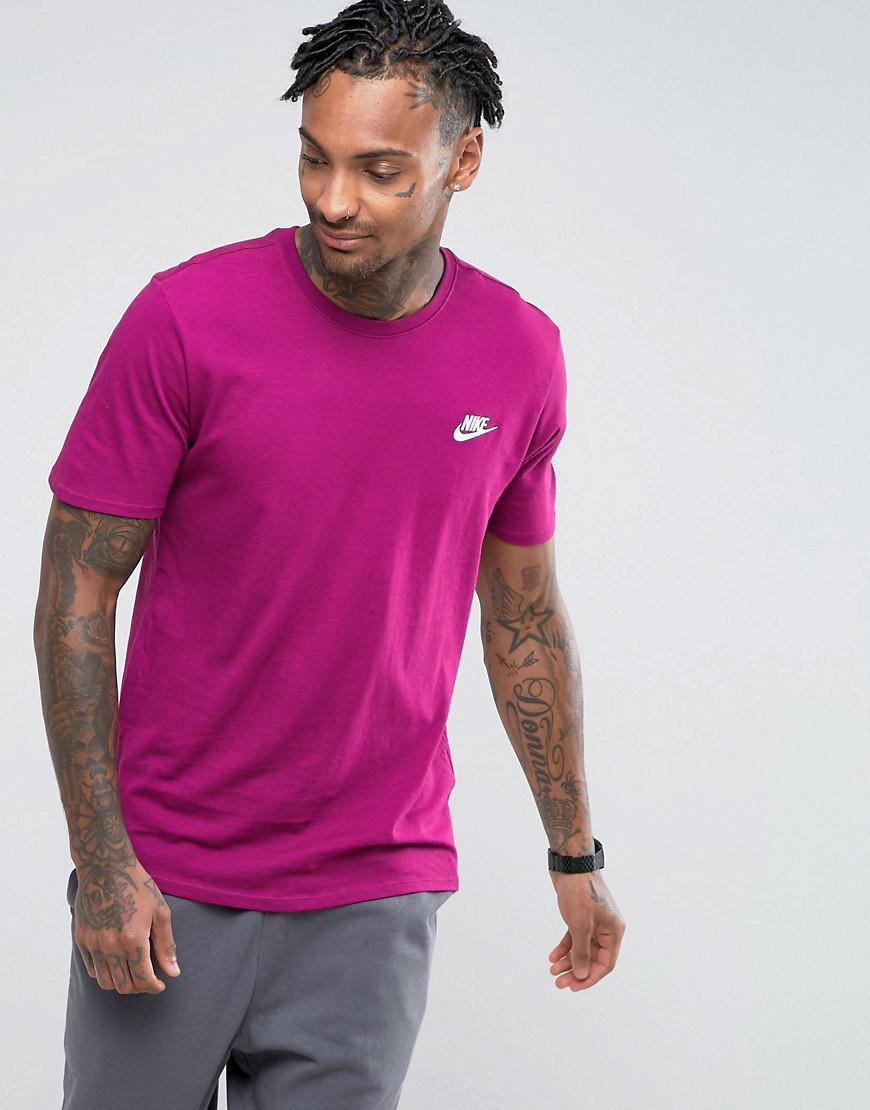 352a8bb4 Nike Embroidered Futura Logo T-shirt In Purple 827021-665 in Purple ...