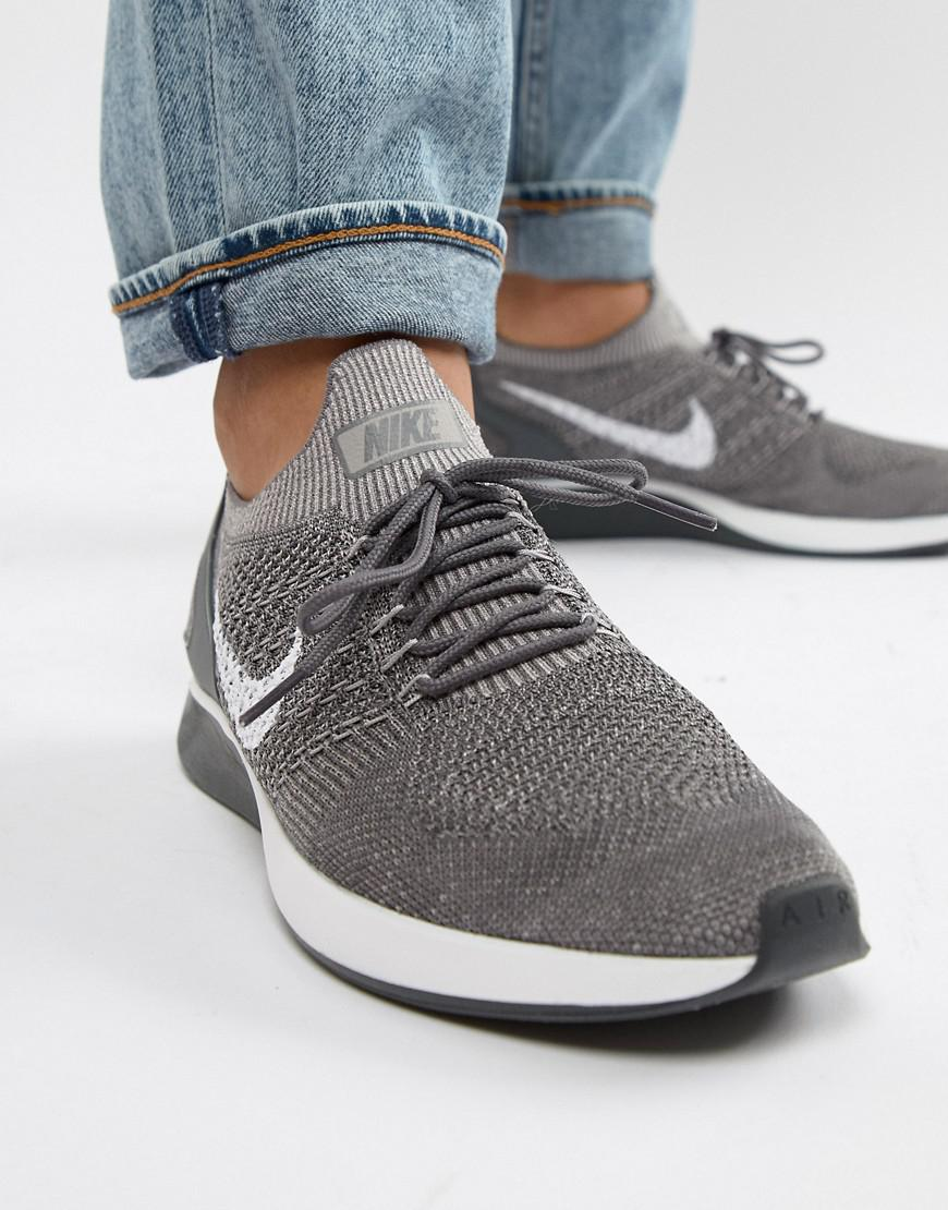 7d69fca04e5310 Nike Air Zoom Mariah Flyknit Racer Trainers In Grey 918264-009 in ...
