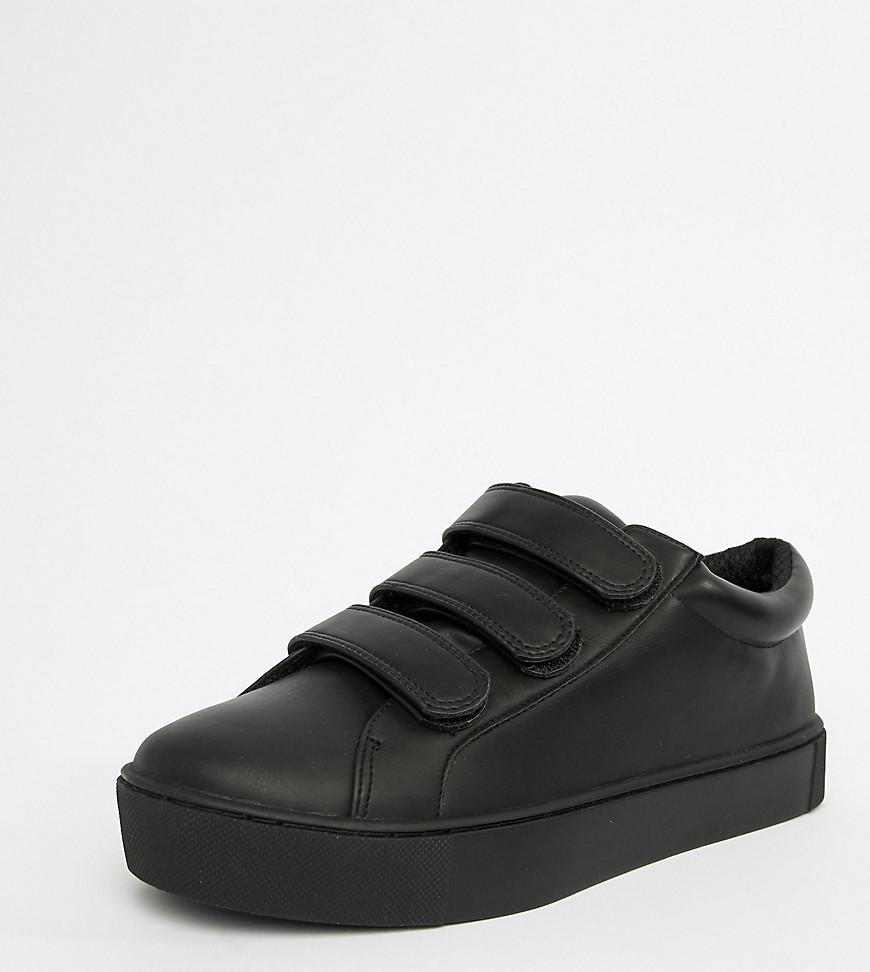 4fbf2be059c59 Monki Velcro Sneakers in Black - Lyst