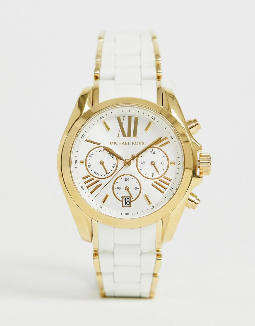5264845c2039 Michael Kors - Metallic Mk6578 Ladies White And Gold Chronograph Watch for  Men - Lyst. View fullscreen