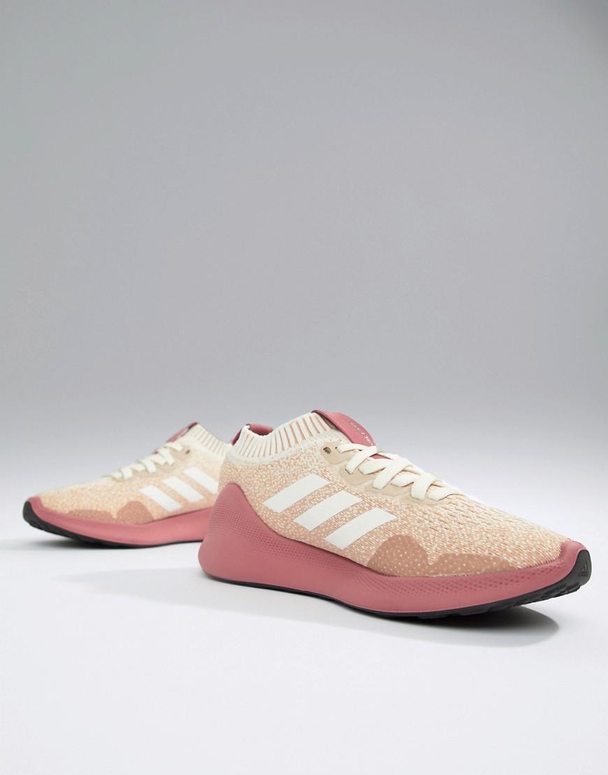newest caaad cce72 Lyst - Zapatillas de deporte en rosa y blanco Purebounce Run