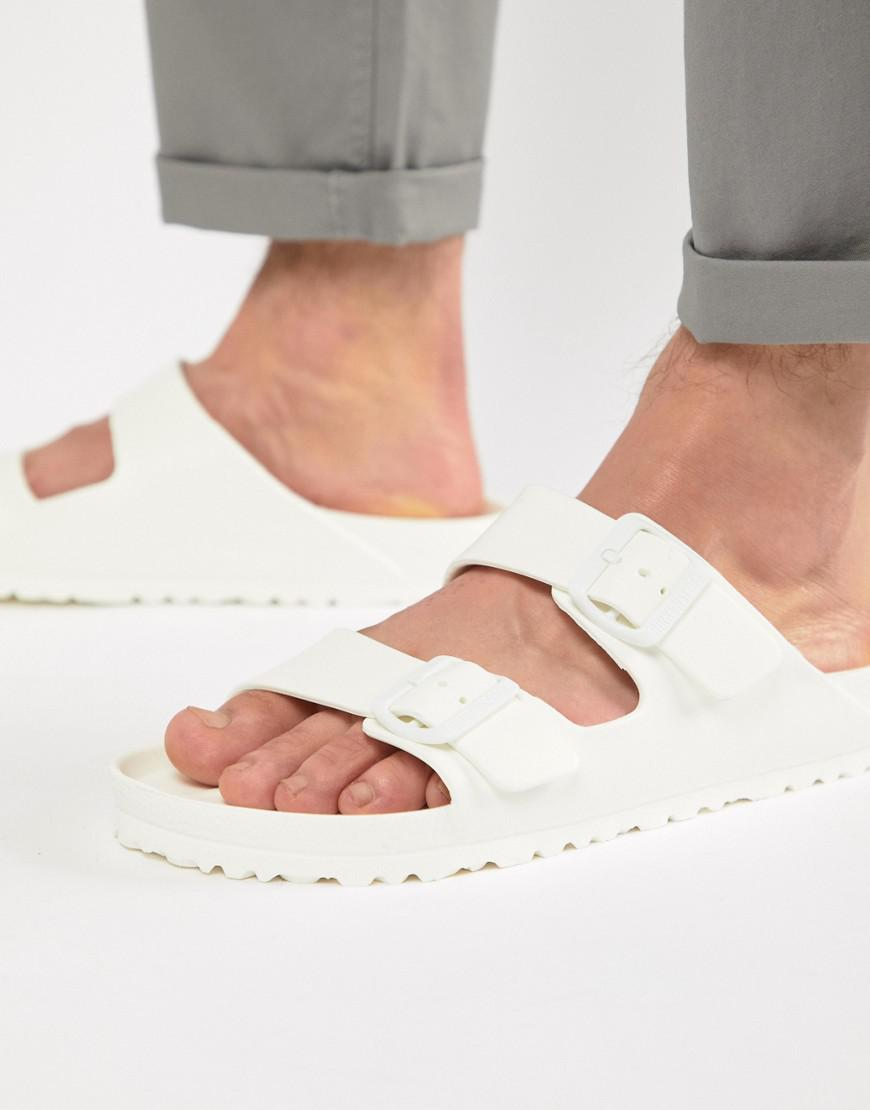 4b1ee49e30ad Birkenstock Arizona Eva Sandals In White in White for Men - Save 50 ...