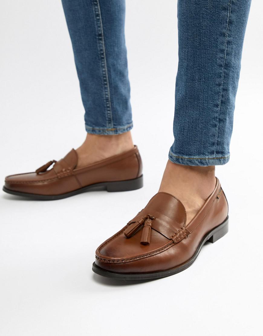 738cf6e698e1 Ben Sherman Loco Tassel Loafers In Tan Leather in Brown for Men - Lyst