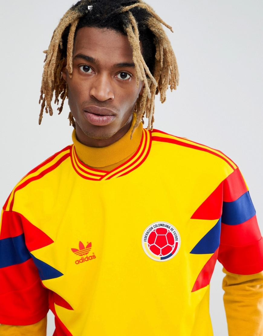 77f25f69fab adidas Originals Retro Colombia Football Jersey In Yellow Cd6956 in ...