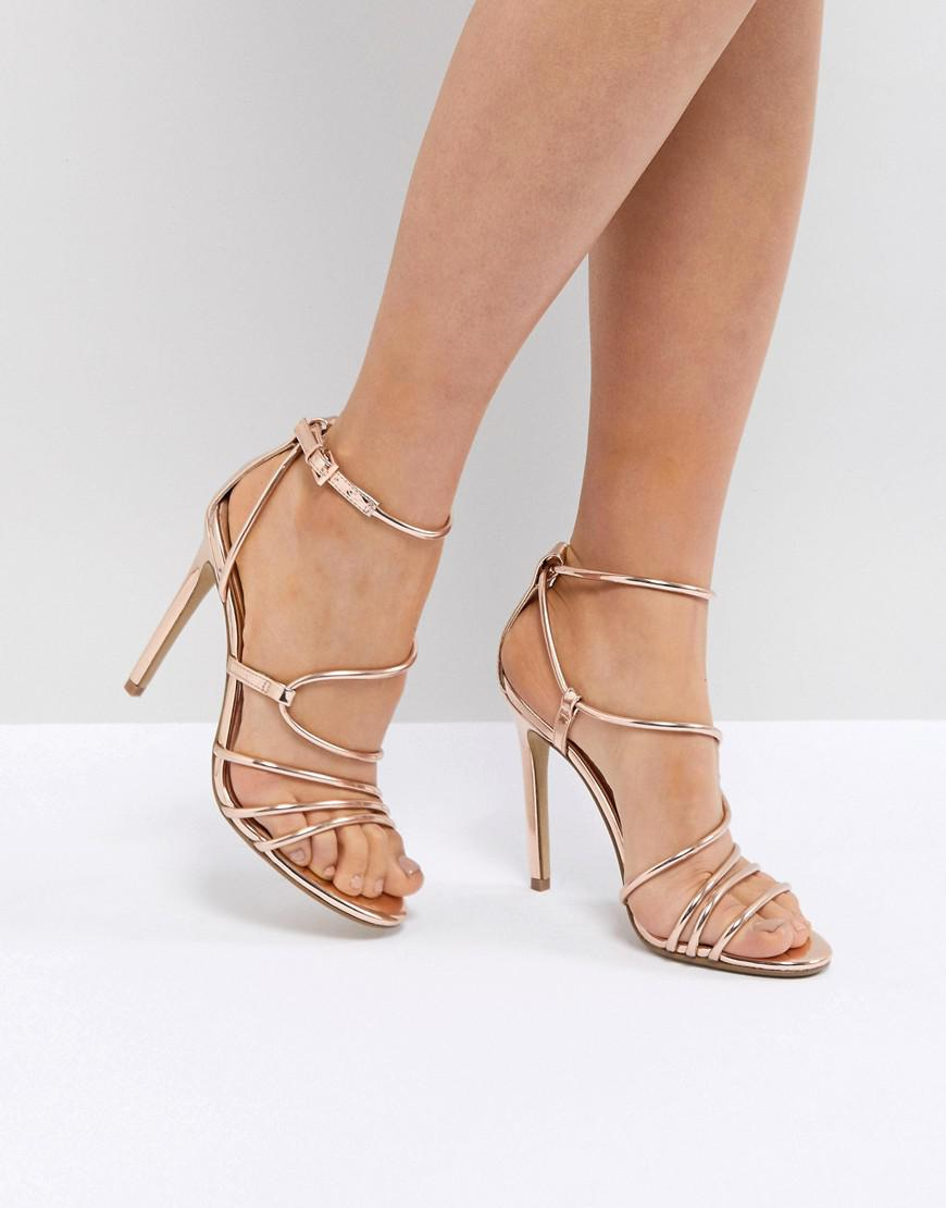 Steve Madden SMITH - High heeled sandals - rose gold xEMDuVD220