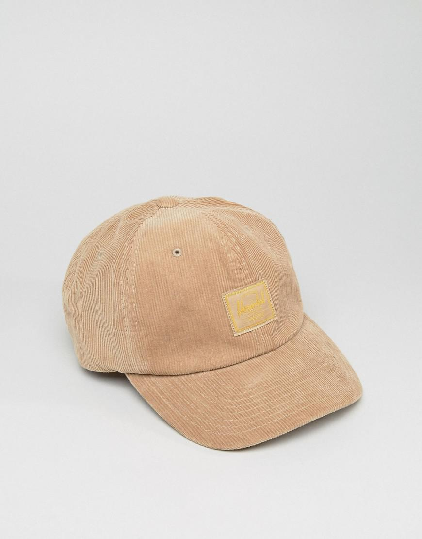 adec5fc499d ... canada lyst herschel supply co. . sylas baseball cap in cord in natural  d8ee0 08208
